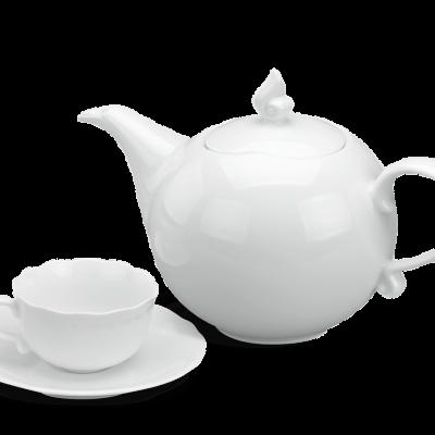 Bộ trà 0.7 L - Mẫu Đơn IFP - Trắng Ngà
