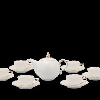 Bộ trà 0.7 L - Mẫu Đơn IFP - Chỉ Vàng