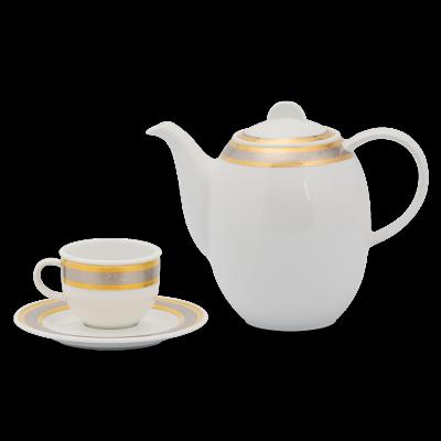 Bộ cà phê 1.3 L - Sago - Hoa Hồng (Bộ 6T/D)