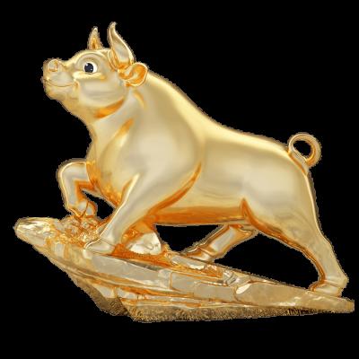Trâu Thịnh Vượng 25cm - Dát Vàng