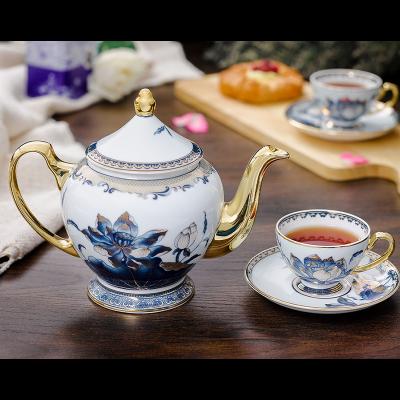 Bộ trà 1.3 L - Hoàng Cung - Sen Ngọc