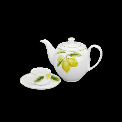 Bộ trà 1.1 L (Bộ 6 tách/dĩa) - Camellia - Quả Chanh