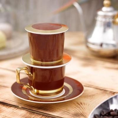 Bộ phin cà phê - Camellia - Màu cà phê
